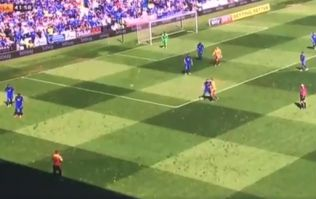 Reading player appears to take throw-in from the shadow line instead of the sideline