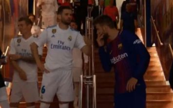 Nacho was really disgusted at Gerard Pique's half-time tunnel chat