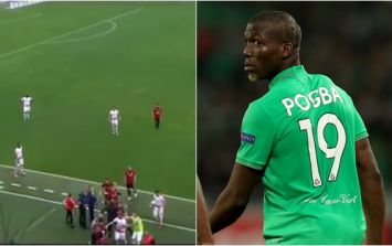 Paul Pogba's brother dragged away from furious bust-up with several teammates