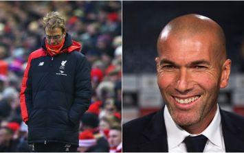 Zinedine Zidane feeling very smug about his Ronaldo update