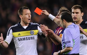Which player has more Premier League red cards?