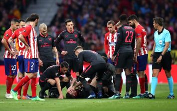 Laurent Koscielny discovers the worst news as injury is confirmed