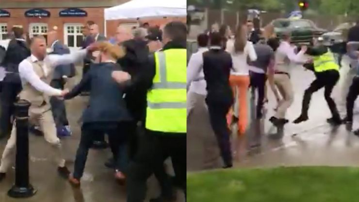 Mass brawl breaks out at Ascot