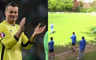 Derry goalkeeper's 70-yard wondergoal caught Shay Given's attention