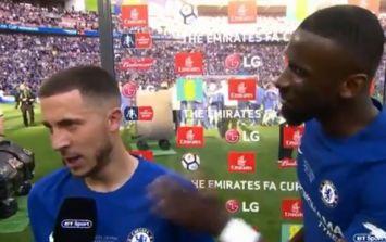 WATCH: Antonio Rudiger begs Eden Hazard to stay at Chelsea during interview