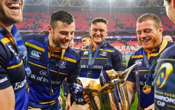 Robbie Henshaw didn't get too comfortable with his Champions Cup medal