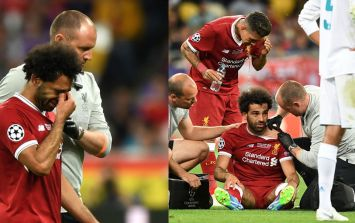 Mohamed Salah left the field in tears after injury in Champions League final