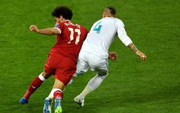 Egyptian Lawyer files €1 billion lawsuit against Sergio Ramos after tackle on Mohamed Salah