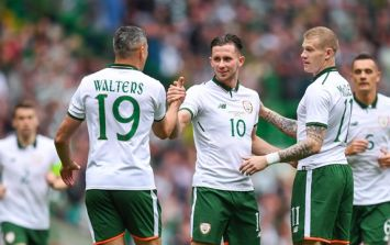Alan Browne scored his first goal for Ireland with a nice strike against Celtic