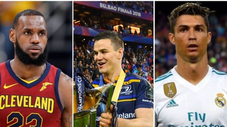 LeBron James, Johnny Sexton and Cristiano Ronaldo all look to join the 40 club