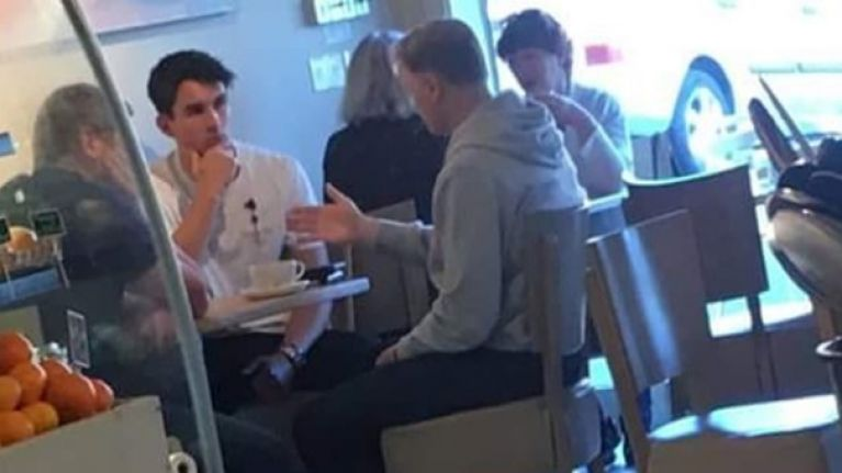 Joe Schmidt pokes fun at photo of meeting with Joey Carbery