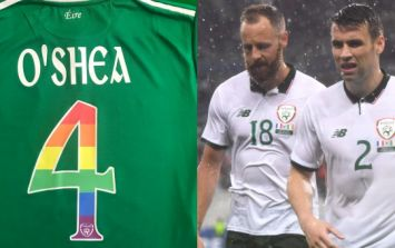 FAI hailed for show of LGBT solidarity with rainbow flag jerseys