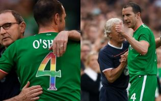 John O'Shea bows out to touching standing ovation at the Aviva