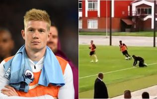 Fans reckon Kevin De Bruyne has an issue with Adnan Januzaj after shocking tackle
