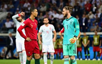 Ronaldo's celebration may have been a subtle dig at David De Gea