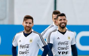 Sergio Aguero starts as Argentina name team early to keep Lionel Messi happy