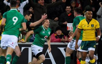Conor Murray unlocks Australian defence with a pass straight out of heaven