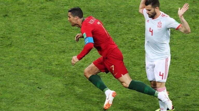 Gerard Pique slams 'always diving' Cristiano Ronaldo