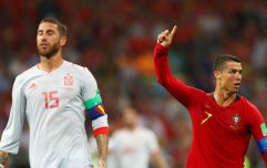 Sergio Ramos inadvertently helped Cristiano Ronaldo score his penalty against Spain