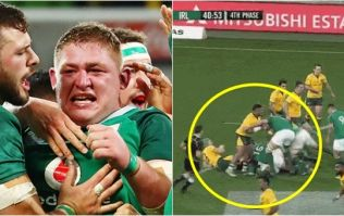 'He's a 130-kilo flying missile' - Tadhg Furlong's epic clear-out goes global