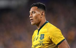 Israel Folau responds to Ireland's blocking tactics in Melbourne