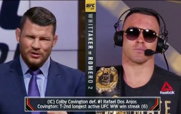 Michael Bisping tears into Colby Covington on live TV after interim title win