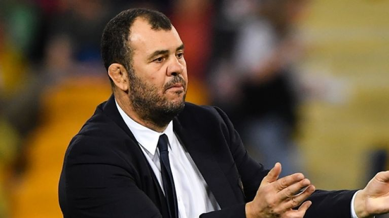 TV viewers got to see Michael Cheika's very lucky charm during Ireland vs. Australia