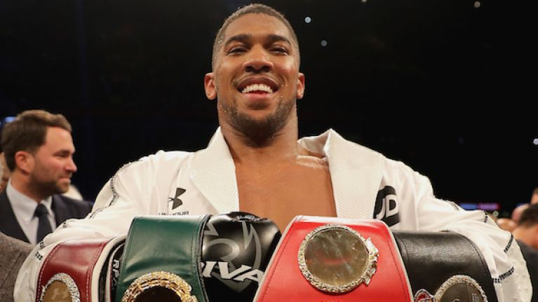 Anthony Joshua's purse for fight with Alexander Povetkin has been revealed
