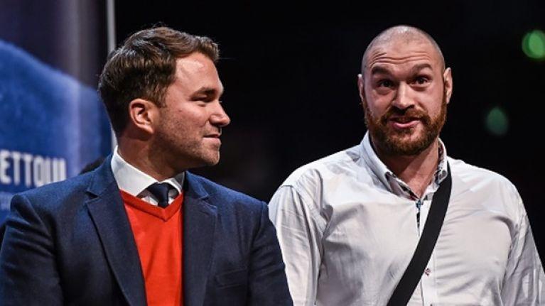 Tyson Fury blames Eddie Hearn for Anthony Joshua and Deontay Wilder fight falling through