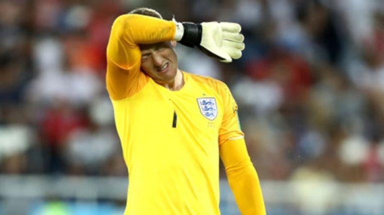Thibaut Courtois cruelly teases Jordan Pickford over Adnan Januzaj goal