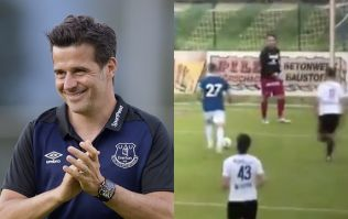 Austrian goalkeeper appears to give up as Everton score 22 goals in pre-season friendly