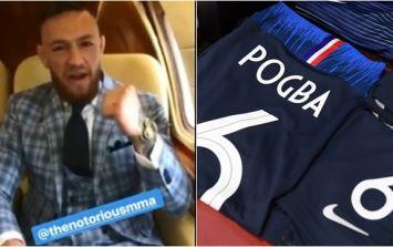 Conor McGregor sends Paul Pogba World Cup final message