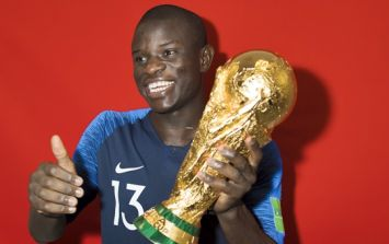 What happened when N'Golo Kante got the World Cup trophy sums him up perfectly