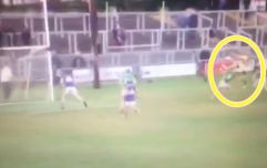 One-on-one in Offaly club game ends in goalkeeper fly-kicking forward across head