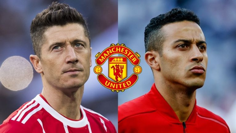 Manchester United plotting moves for Robert Lewandowski and Thiago Alcantara
