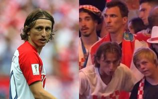 Luka Modric invites disabled fan up on stage with him during World Cup celebrations