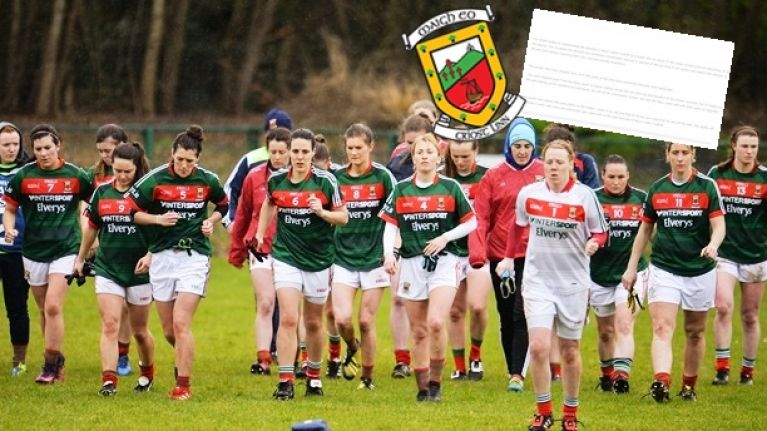 'Personal and sensitive' welfare issues behind Mayo ladies' decision to walk