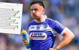 Laois player wrote out 14 targets for year in October, met 10 by July