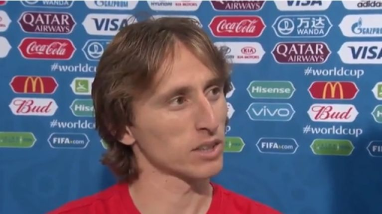 Luka Modric stuck it to the English media after Croatia victory