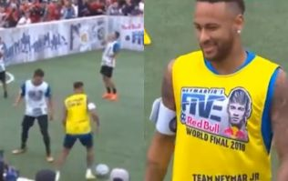 Neymar barges child off ball in 5-a-side game