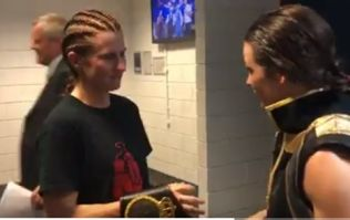Katie Taylor comforts starstruck challenger Kimberly Connor