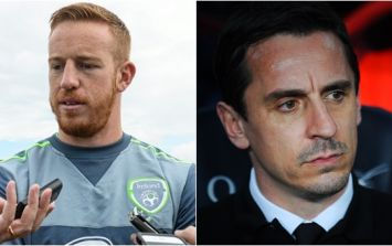 Gary Neville hits back at Motherwell boss' Adam Rooney comments