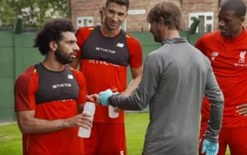 Mo Salah reaction to being sat out of training ground fitness test is striking
