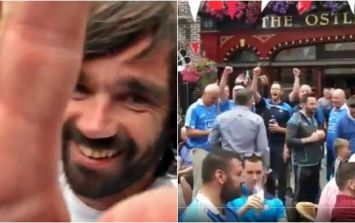 Ricey McMenamin is hanging out in a Tyrone pub thronged with Dublin fans