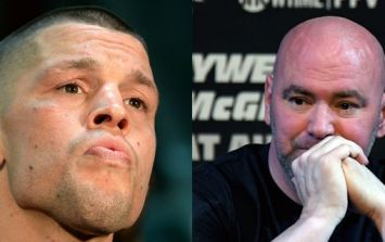 Apparently, Nate Diaz's bizarre protest continued at UFC 227