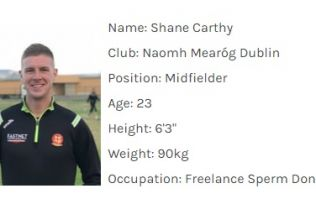 Never has a Gaelic football team had a better set of 'occupations'