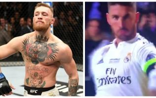 Sergio Ramos breaks out Conor McGregor walk after Super Cup goal