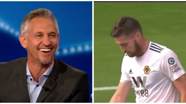 Gary Lineker has a pop at Ireland defender Matt Doherty