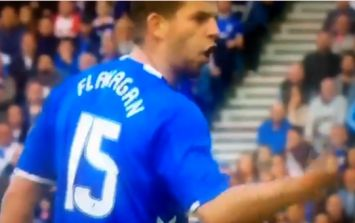Jon Flanagan is already throwing himself about for Rangers