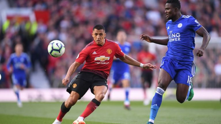 Alexis Sanchez lost possession more than any other Man Utd player against Leicester